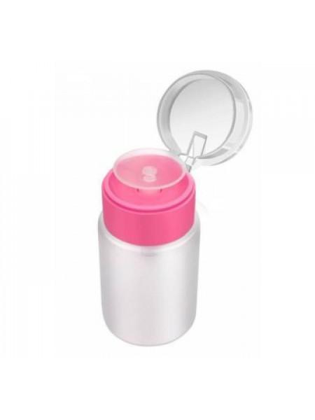 Дозатор пластиковый для жидкостей 60 мл (РОЗОВЫЙ)