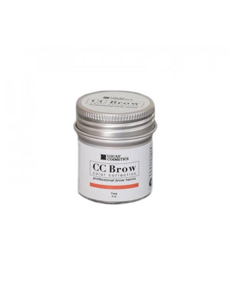 Хна для бровей CC Brow (foxy) в баночке (рыжий), 5 гр