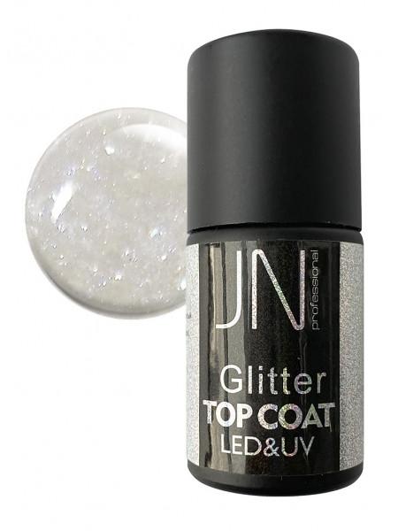 Топ для гель-лака JN Glitter Top Coat 10мл без липкого слоя №03