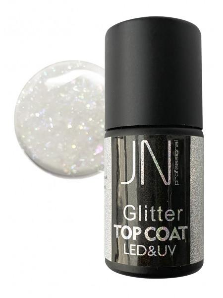 Топ для гель-лака JN Glitter Top Coat 10мл без липкого слоя №08